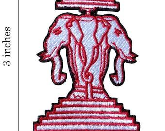 Elephant III Logo Embroidered Iron On Patch.