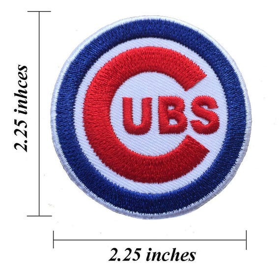 Chicago Cubs Logo Size 225 Embroidered Iron 1 Patches Etsy