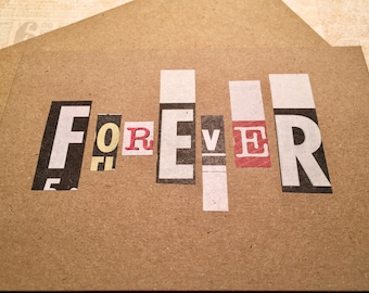 Wedding Day Card Forever Ransom Note Funny Handmade
