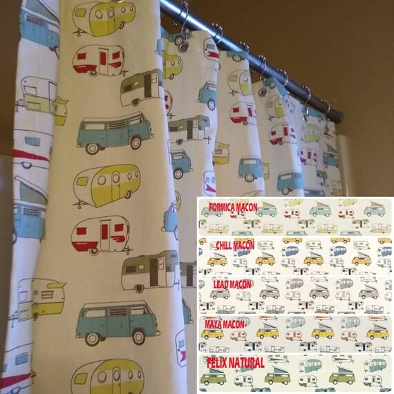 RV Shower Curtain Kids 56 Wide X