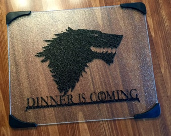 "Game of Thrones 12x15"" glass cutting board"