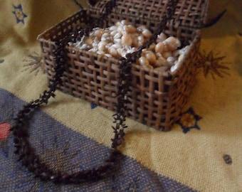 Vintage 42 Inch Traditional Hawaiian Koa Seed Lei Necklace