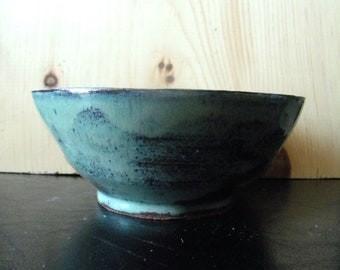 Sage & Brown Stoneware Bowl