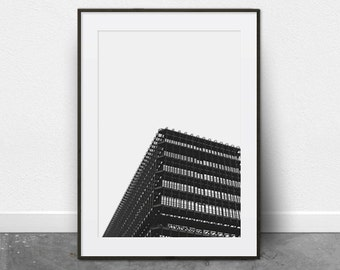 Architectural Print, Printable Art, Black and White Photography, Minimalist Art, Digital Download, Printable Wall Art, City Prints, Modern