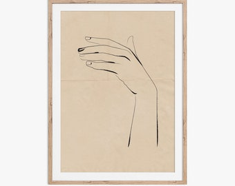 Hand illustration, Ink on creased vintage paper design. Download the files and print from home.