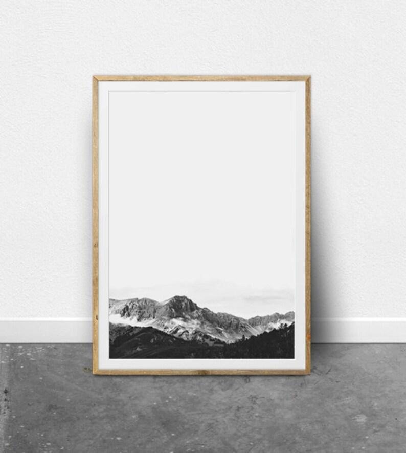 Minimalist Art Mountain Print Modern Art Print Nordic Art image 0