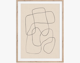 Abstract scribble fine line drawing. Download the files and print from home.