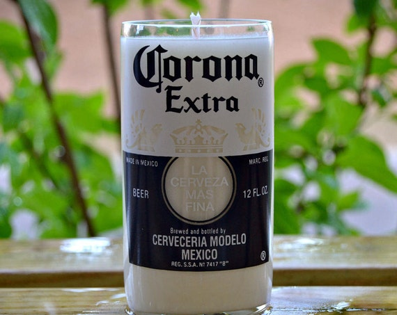 Corona Extra Beer Bottle Candle made with soy wax