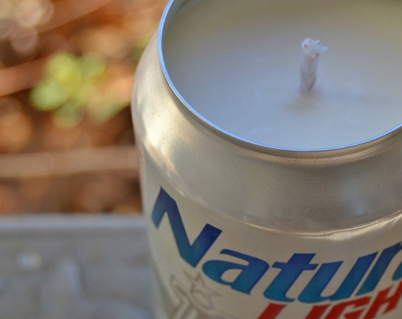 Natural Light (Natty) CANdle upcycled from a discarded beer can