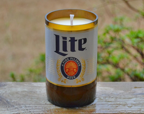 Miller Lite Beer Bottle Candle