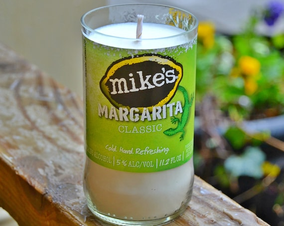 Mike's Margarita candle made with soy wax