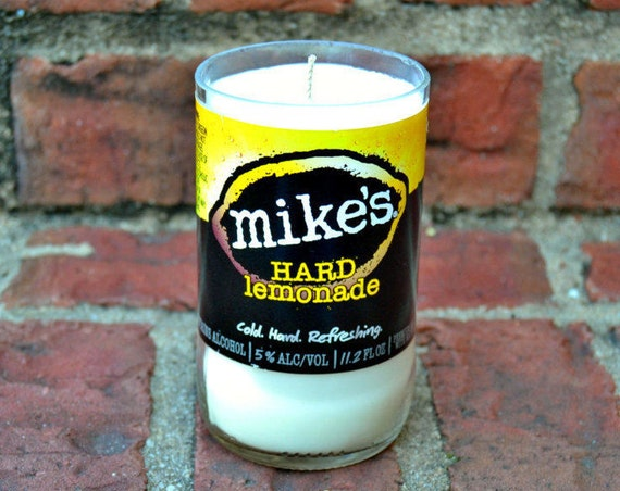 Mike's Hard Lemonade candle made with soy wax