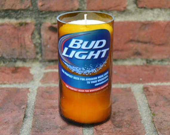 Bud Light Beer Bottle Candle