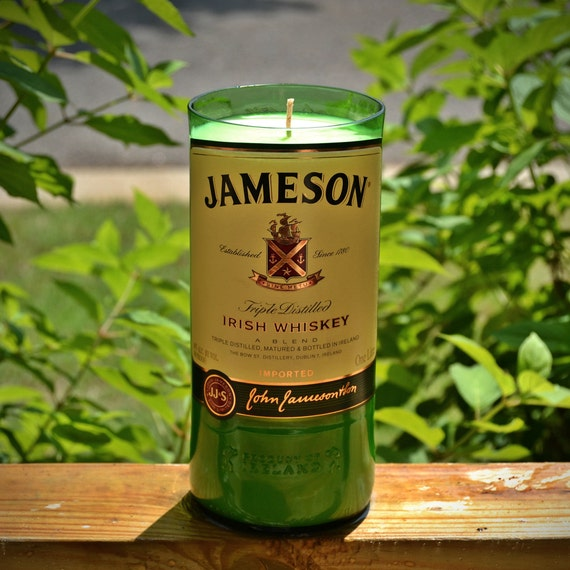 Jameson Irish Whiskey Bottle Candle