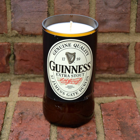 Guinness Extra Stout beer bottle candle