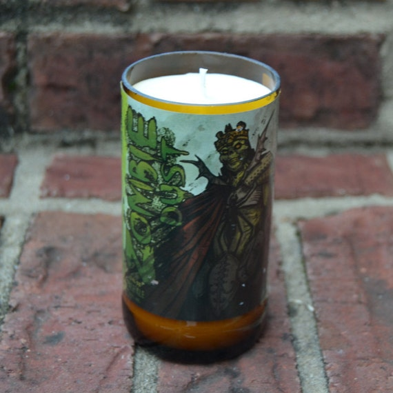Three Floyds Zombie Dust Craft Beer Bottle Candle (22 oz. Bomber)