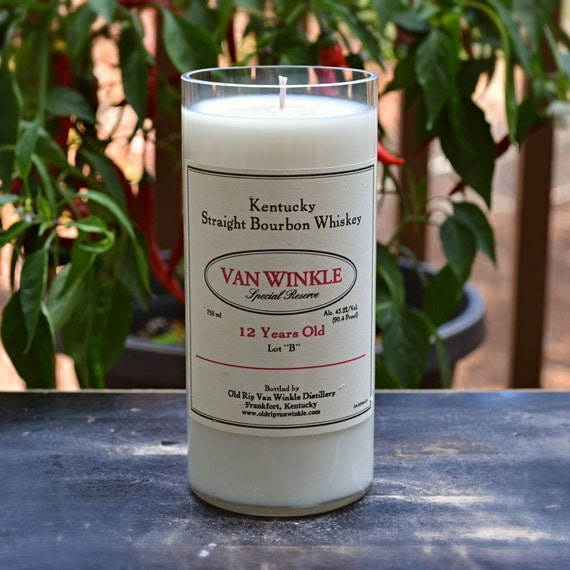 Van Winkle Special Reserve Kentucky Straight Bourbon Whiskey candle - FREE SHIPPING