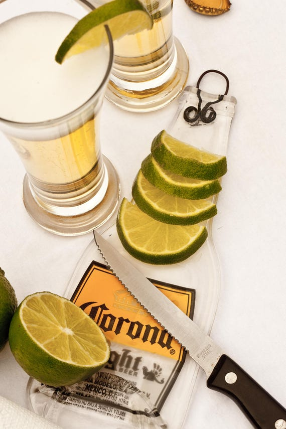 Corona Light beer bottle serving platter