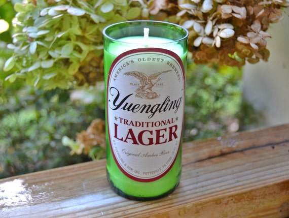 Yuengling Lager Beer Bottle Candle