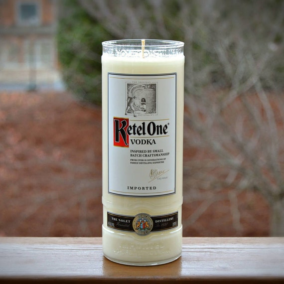 Ketel One Vodka Bottle Candle made with soy wax