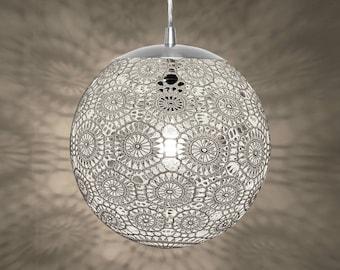 """Liz Crochet Lamp 10"""" ø - white"""