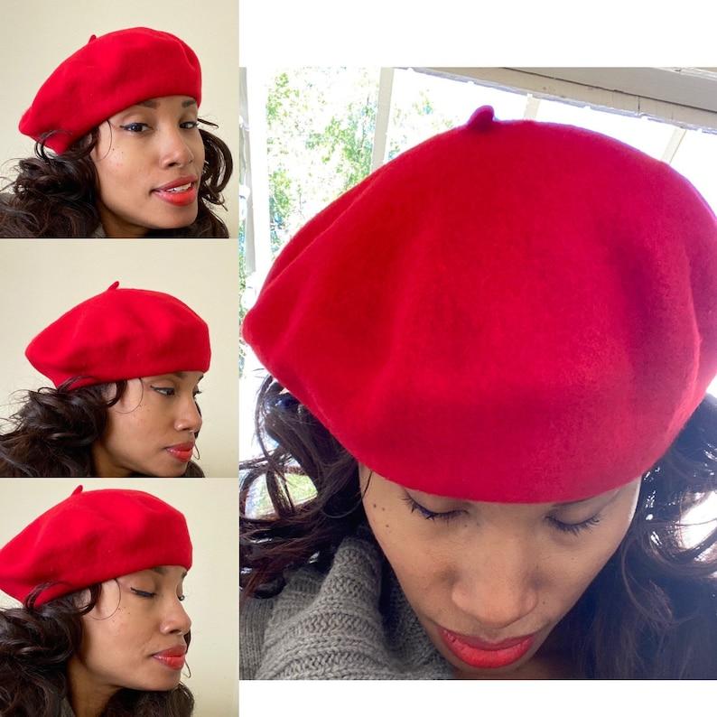Red beret high quality beret wool beret