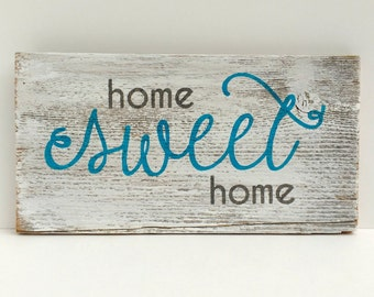 home SWEET home - Reclaimed Wood Sign, Rustic sign, Hand-Painted, Rustic Wall Art, Handmade, Housewarming gift, New Home gift