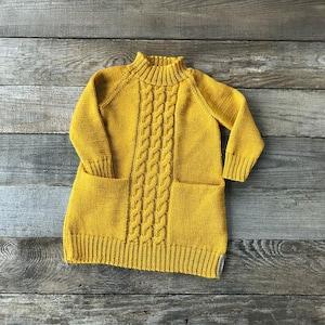 Alpaca knit girl dress with pockets gray girl tunic knitted baby alpaca sleeveless jumper dress knit cream rosepink beige