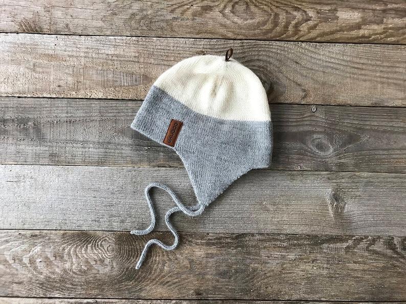 14bdf0549c5 Alpaca hat earflap hat with strings ear cover beanie gray
