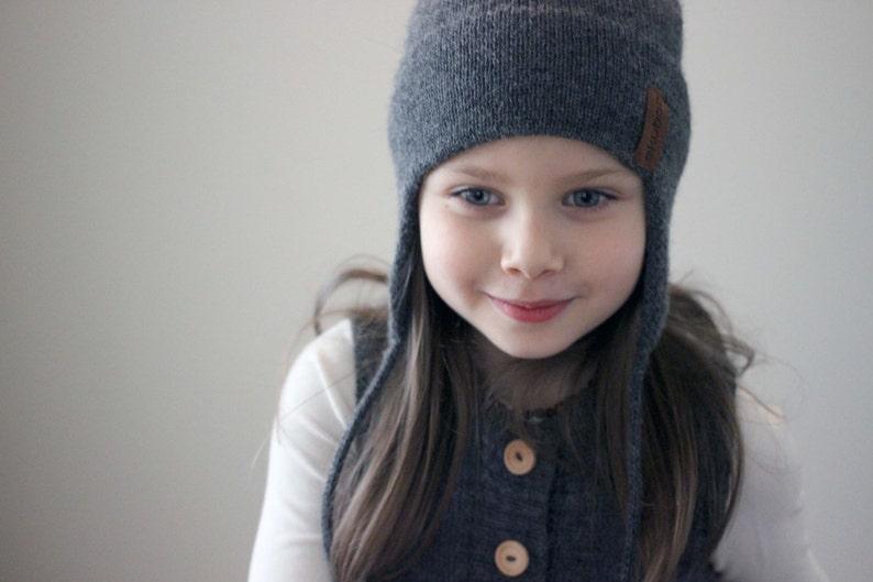 5624da925d5 Alpaca wool ear flap hat knit natural white grey beige