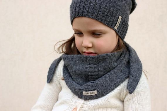 Alpaka stricken dunkel graue Dreieck Schal gestrickt Kinder   Etsy