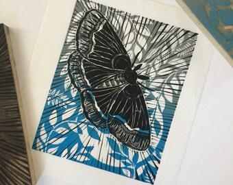 Papillon en vol - lithographiée original neuf