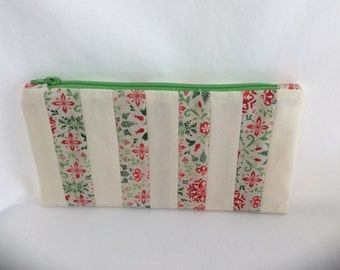 """CLEARANCE! Was 8.00now 6.00Pencil pouch is cosmetic bag 8 1/2"""" X 4 1/2"""""""