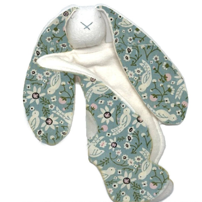 personalize organic baby gift  teal floral  a modern image 0