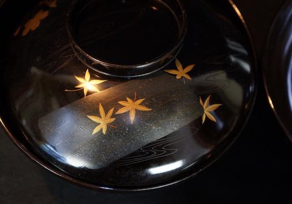 Japan lacquered bowl Owan cups Maki-e 1900s Japanese hand craft