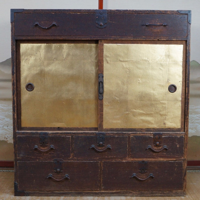 Japan Furniture Antique Tansu Cabinet 1800s Interior Japanese Etsy