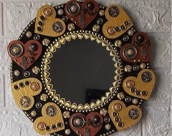 Mirror Wall Hanging, Wall Decoration, Unique Mirror Set,