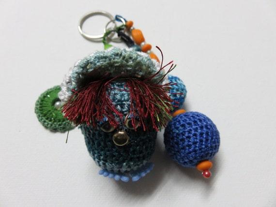 Häkeln Sie Schlüsselanhänger Handtasche Dekor Rucksack Etsy
