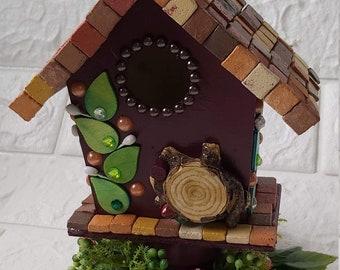 Bird Feeder Room Decoration, Bird Feeder Indoor Decor, Wooden  Bird House, Bird House Table Decor,