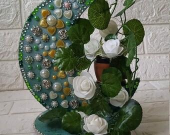 Center Piece, Moon Light Center Piece, Room Decoration, Moon Flower Room Decoration, Artificial Flowers Center Piece,