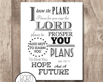 Printable Bible Verse Jeremiah 29:11