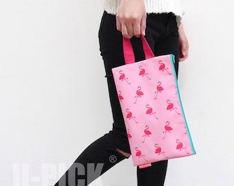 U-Pick Flamingo Handbag Illustration Clutch