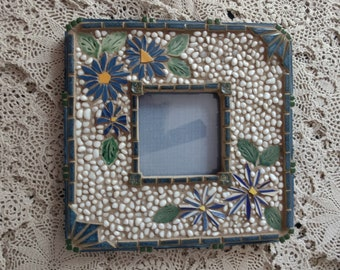 Mosaic Picture Frame - Bamboo & Daisies