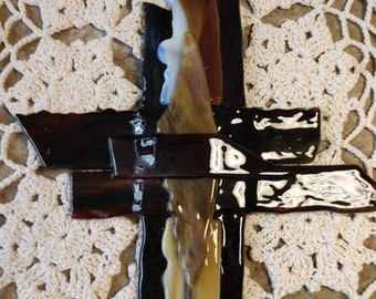 Beautiful Layered Stained Glass Cross