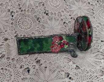 Beautiful Stained Glass Double Wheel Stained Glass Kaleidoscope - Rose Garden