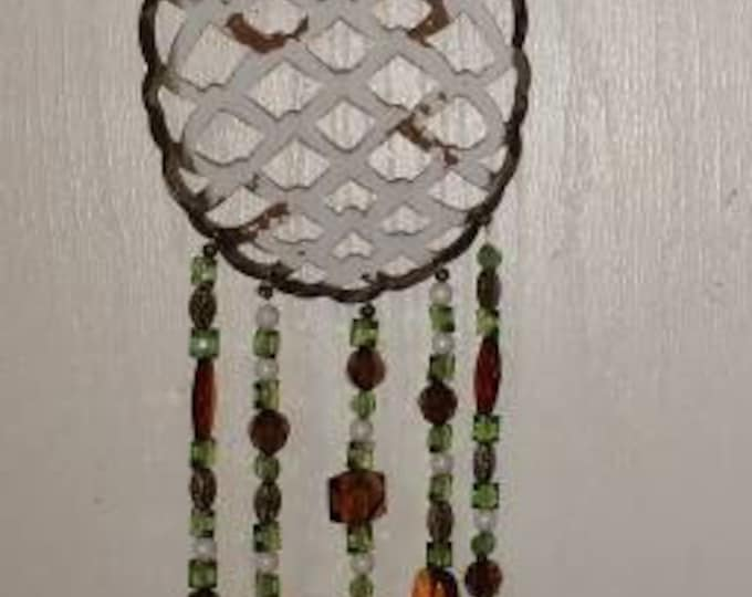 Hawaiian Pineapple Stained Glass Wind Chime