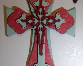 Beautiful Layered Wooden Cross
