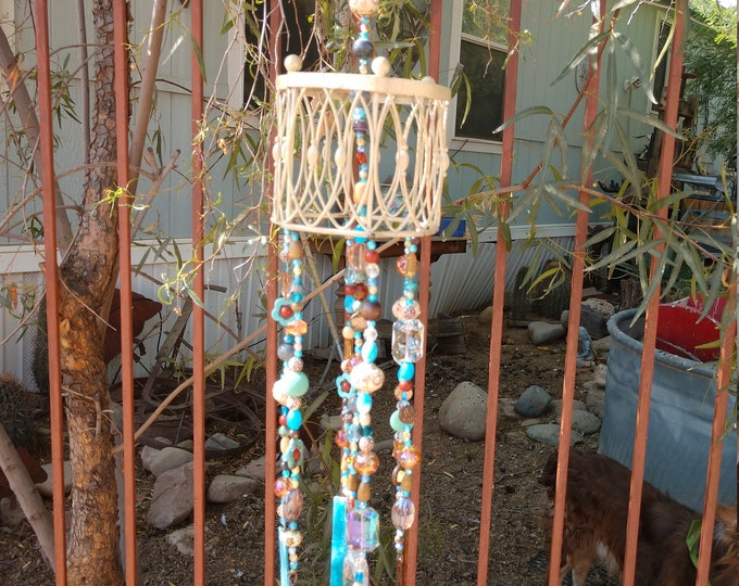 Beautiful Handmade Windchime - Basket in Bluie