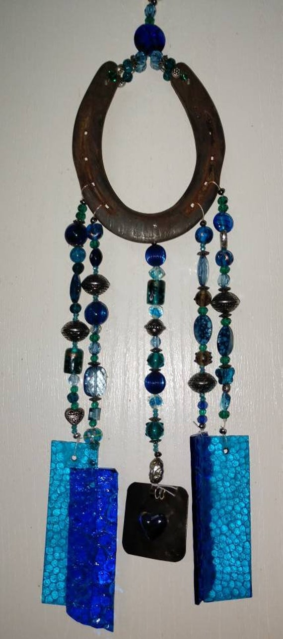 Horseshoe Stained Glass Wind Chimewind