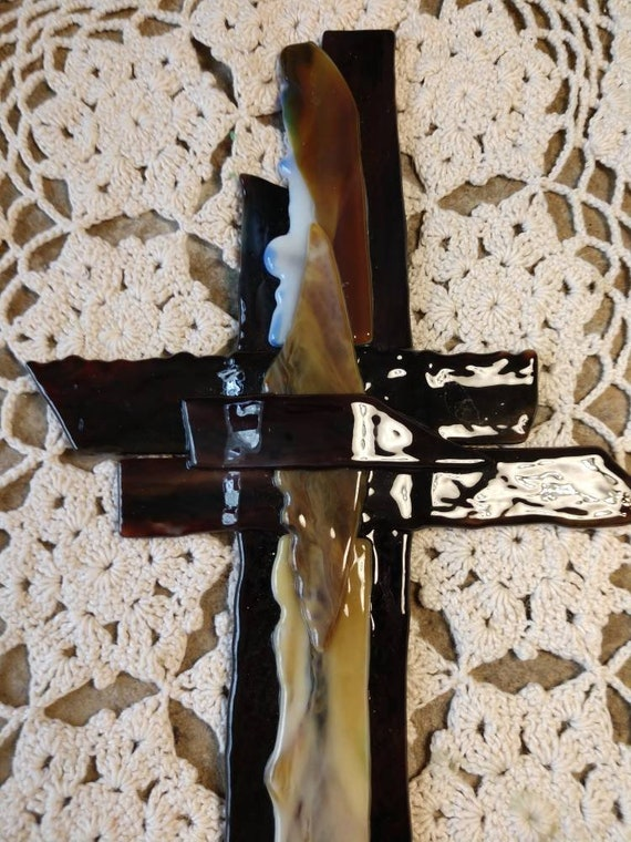 Beautiful Layered Stained Glass Cross